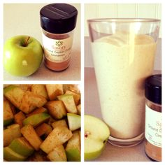 apple pie smoothie. could use milk instead of water too. sounds delicious!