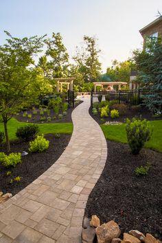 Paver walkway and planting.