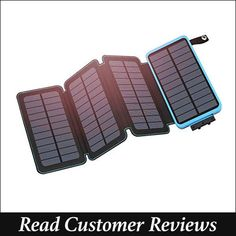 Solar Charger FEELLE Portable Solar Power Bank Dual USB Ports Waterproof External Battery with LED Flashlight for Smartphones, Tablets, Kindle Solar Phone Chargers, Solar Charger, Portable Charger, Portable Solar Power, Solar Projects, Led Flashlight, Solar Energy, Solar Panels, Just In Case