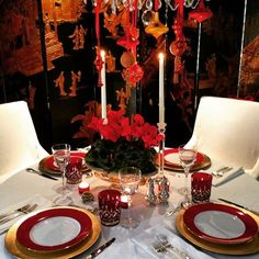 My Christmas table 2014 #christmas #RaisaRess'taplescape  #tablescape #beautifultablesetting #homesweethome #decor