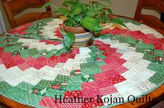 Moda Bake Shop: Peppermint Swirl Christmas Tree Skirt or table cloth for your round patio table. This is not as hard as it looks!