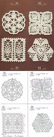 This Pin was discovered by Dia Crochet Circles, Crochet Motifs, Crochet Blocks, Crochet Diagram, Afghan Crochet Patterns, Crochet Chart, Crochet Squares, Thread Crochet, Crochet Doilies