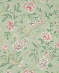 Sanderson Porcelin Garden Rose/Fennel 10.05 X 0.68 m Rapport 76.2 cm 840 kr/rulle