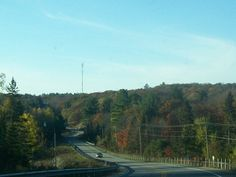 Highway 141 near Rosseau Ont. in Muskoka lakes Township Flash Photography, Photography Photos, Autumn Scenes, The Province, Lakes, Ontario, Scenery, In This Moment, Landscape