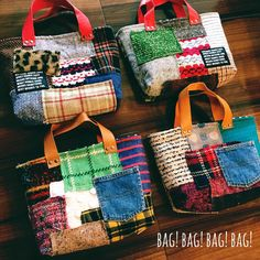 あったかパッチのbag! #ハンドメイド #ハンドメイドバッグ #ウール #ツイード #handmadebag