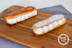 Éclairs Chantilly — Doctor Cook Hot Dog Buns, Hot Dogs, Bread, Food, Brot, Essen, Baking, Meals, Breads