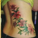 chinese flower tattoo