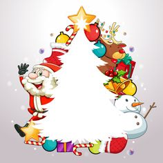 "Photo from album ""Новогодние открытки"" on Yandex. Merry Christmas, Christmas Frames, Christmas Pictures, Christmas Time, Christmas Activities, Christmas Printables, Paper Decorations, Christmas Decorations, Christmas Photo Booth"