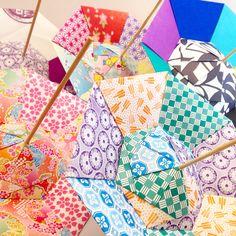 Origami Parasols.  https://www.etsy.com/jp/shop/SelectShopNORA  #origami #handmade #japan #fun #cute #lovely #colorful