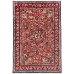 ecarpetgallery Hand-knotted Persian Tabriz Brown and Red Wool Rug