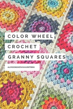 We love these Color Wheel Crochet Granny Squares! The color palette for these crochet granny squares is so perfect.