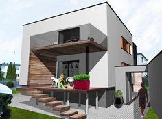 przebudowa domu wodzisław styl nowoczesny monochrom - M O N O C H R O M Monochrom, Pergola, Stairs, Exterior, Outdoor Decor, Home Decor, Houses, Gardening, Ideas