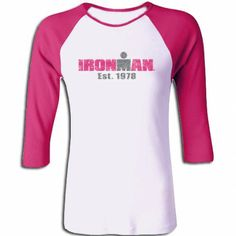 0c6c8234dadfb IRONMAN Women s Vintage 78 Raglan Top - White Raspberry