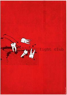 Fight Club (1999) ~ Minimal Movie Poster by Ben Mcleod #amusementphile