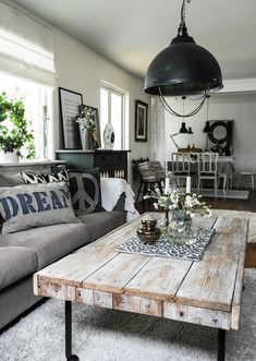 Are you looking for inspiration for farmhouse interior? Check this out for unique farmhouse interior ideas. This amazing farmhouse interior ideas appears to be entirely terrific. Farmhouse Decor Living Room, Living Room Lighting, House Interior, Living Room Diy, Living Decor, Farmhouse Interior, Interior Design Rustic, Farm House Living Room, Rustic Living Room