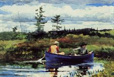 Blue Boat by Winslow Homer - The beginnings of watercolor