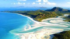 Whitehaven Beach - Whitsunday Island, Queensland, Australia - The Most Amazing Beaches in the World via @mydomaine