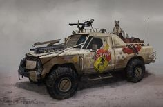 The Hyena Picture (2d, automotive, truck, off-road, post apocalyptic)