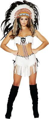Sexy Native American Indian Tribal Princess Halloween Costume Outfit Adult Women