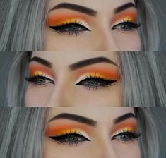 Colorful eyeshadow makeup # tutorial, super easy with this Bunte Lidschatten Make-up # Tutorial, super einfach mit diesem Schritt von Schri – Beauty Home Beautiful look of orange eye makeup # eyeshadow # makeup # popular makeup up - Makeup Eye Looks, Eye Makeup Tips, Cute Makeup, Smokey Eye Makeup, Makeup Goals, Gorgeous Makeup, Makeup Inspo, Makeup Eyeshadow, Makeup Ideas