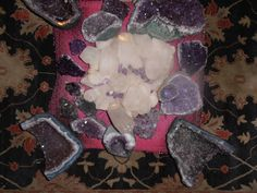 Crystal mandala for the Violet Ray, the ray of Ascended Master, St. Germain