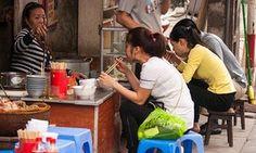 A street-food restaurant in Hanoi's Old Quarter.