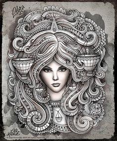Zodiac ~ Libra by Olka Kostenko on Behance