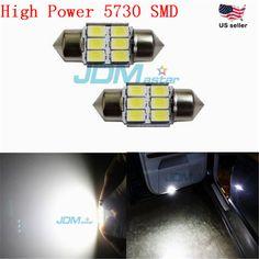 "JDM ASTAR 5730 SMD 31MM 1.25"" White Festoon Dome Map Light LED Bulbs DE3175 3021 #JDMASTAR"