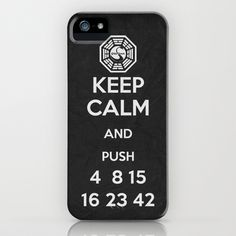 Oh my god, totally watching the episode where they stop pushing the button...or at least I think they are going to! Would so rock this right now hahaha Keep Calm - Lost Poster iPhone Case by Misery - $35.00 @Wendy Farquhar