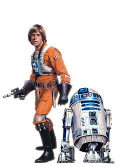 Luke and R2D2 by Brian Rood. Gorgeous work.