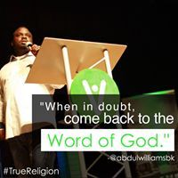 When in doubt, come back to the word of God.