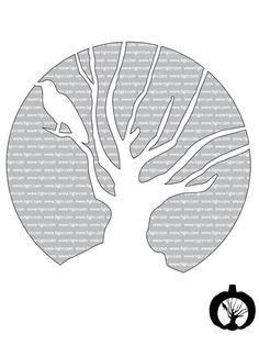 haunted+tree+pumpkin+template.jpg 616×821 pixels
