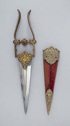 Katar Dagger with Sheath Dated: 19th century Culture:...