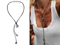 """BEAU SOLEIL Leather necklace """"Tribal-Coins"""" from Isabel Benitez by DaWanda.com"""