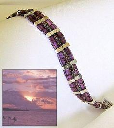 Hawaii Sunset Tila Bead Bracelet   AllFreeJewelryMaking.com