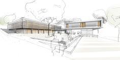 Entwurf wohnhaus3 innenarchitektur zeichnungen skizzen for Innenarchitektur studium ausland