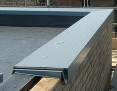 Example of the flat roof option with parapet and flashing to top edges. Cout Extension Maison, House Cladding, Roof Cladding, Roof Lantern, Roof Extension, Roof Detail, House Extensions, Building A House, Architecture Design