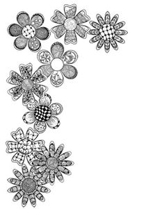 Zentangle - This would be really cool drawn on a wall in both the top corners and pictures / artwork in the middle - Zentangle - doodle - doodling - black and white zentangle patterns. zentangle inspired - #zentangle #doodling #zentangle patterns
