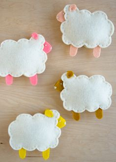 Molly's Sketchbook: Purl Soho's Little Lamb Finger Puppets - The Purl Bee - Knitting Crochet Sewing Embroidery Crafts Patterns and Ideas!