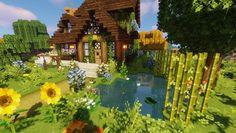 Cute Minecraft Houses, Minecraft Buildings, Minecraft Stuff, Minecraft Cottage House, Minecraft Room, Minecraft Creations, Minecraft Designs, Minecraft Welten, Mojang Minecraft