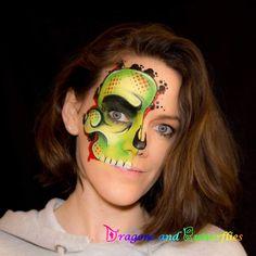 Theme Halloween, Halloween 2020, Halloween Face, Make Up Art, How To Make, Tvar, Kids Makeup, Face Painting Designs, Face Art