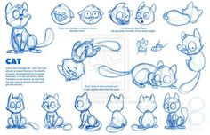 Cat Model Sheet by Robo-Shark.deviantart.com on @deviantART