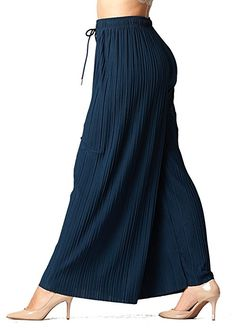 3c86261f5df Conceited Pleated Palazzo Pants (One Size