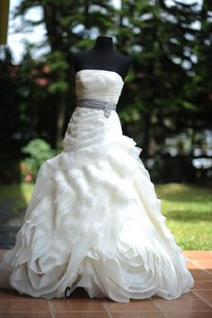 A lovely White by Vera Wang dress.