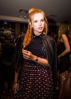 Pin for Later: Celebrities Were Sitting Pretty in the London Fashion Week Front Row Bella Thorne The Hollywood star attended the Flaunt magazine x AG Jeans party.