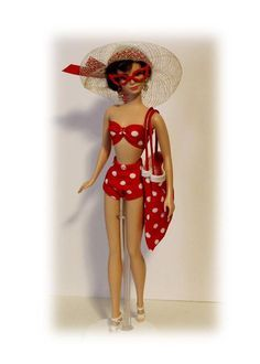4a6b442014 Image result for retro polka dot bathing suit for fashion doll Vintage  Looks