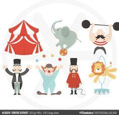 Clipart de circo  Imágenes de circo para utilizar por eltendedero