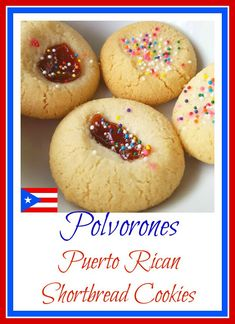 Discovering the World Through My Son's Eyes : Polvorones con Guayaba (Puerto Ric. Discovering the World Through My Son's Eyes : Polvorones con Guayaba (Puerto Rican Shortbread Coo Puerto Rican Cuisine, Puerto Rican Dishes, Puerto Rican Recipes, Cuban Recipes, Steak Recipes, Puerto Rican Cake Recipe, Puerto Rican Appetizers, Comida Boricua, Boricua Recipes