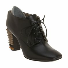 Fendi Spiked Heel Oxford Ankle Boot at Barneys.com