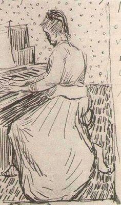 VINCENT VAN GOGH Marguerite Gachet at the Piano, 1890